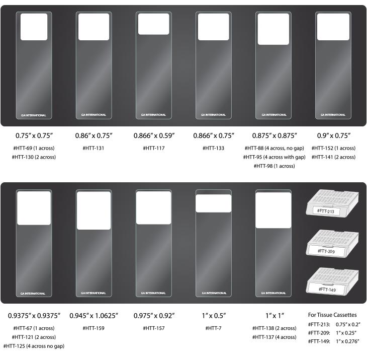 microscope slides labels