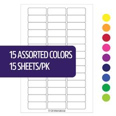 """Deep-Freeze Writable Labels - 1.02"""" x 0.4""""  #JT-2610A (15 colors pack)"""