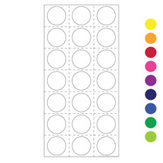 "Cryogenic color dots 0.75"" / 19mm 420/pk LT-19"
