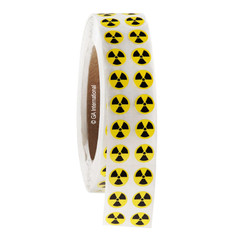 "RADIOACTIVE Warning Labels -  0.5"" Circles   #WL-013"