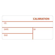 "Self-Laminating Calibration Labels - 1"" x 2.125"" #CAL-002-1R"