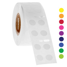 """Color Dot Paper Labels - 0.35"""" circle #EDY-030"""