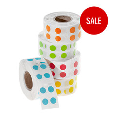 "Color Dot Paper Labels - 0.35"" circle #EDY-030"