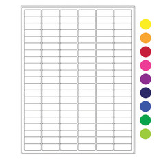 "Cryo laser labels - 1.28"" x 0.5""  #CL-23 (colors available)"