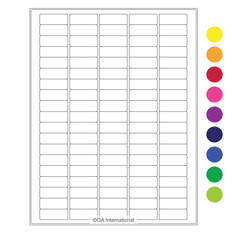 "Cryo laser labels - 1.42"" x 0.55""  #CL-6 (colors available)"