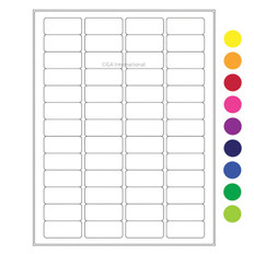 "Cryo laser labels - 1.77"" x 0.79"" #CL-8 (colors available)"