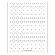 "Removable Laser & Inkjet Paper Labels - 0.75"" circle  #RLZP-51 white"