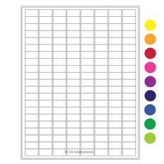 "Laser & Inkjet Matte Paper Labels -  0.94"" x 0.5""  #LZP-12"