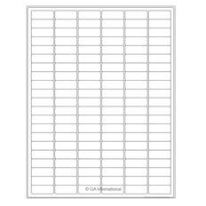 "Laser & Inkjet Matte Paper Labels - 1.28"" x 0.5""  #LZP-23 white"