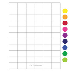 "Laser & Inkjet Matte Paper Labels - 1.42"" x 1""  #LZP-44"