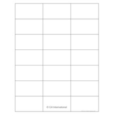 "Laser & Inkjet Matte Paper Labels - 2.83"" x 1.57""  #LZP-29 white"