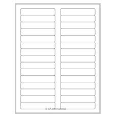 "Laser & Inkjet Matte Paper Labels - 3.44"" x 0.67""  #LZP-55 white"