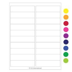 "Laser & Inkjet Matte Paper Labels - 4"" x 1""  #LZP-40"