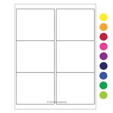 "Laser & Inkjet Matte Paper Labels - 4"" x 3.33""  #LZP-15"