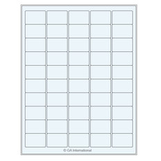 "Clear cryo laser labels - 1.5"" x 1"" #TRCL-70"