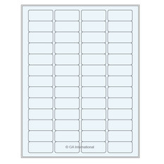 "Clear cryo laser labels - 1.77"" x 0.79"" #TRCL-8"