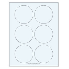"Clear Cryo Laser Labels - 3.125"" Circles  #TRCL-53"