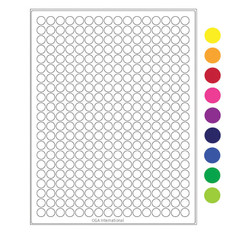 "Cryo laser labels - 0.433"" circle #CL-48 (colors available)"