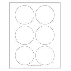 """Cryo laser labels - 3.125"""" circle #CL-53"""