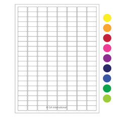 "Cryo laser labels - 0.94"" x 0.5"" #RCL-12 (colors available)"