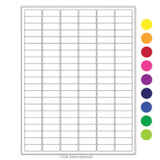 "Cryo laser labels - 1.28"" x 0.5""  #RCL-23 (colors available)"