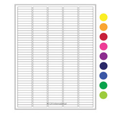 "Cryo laser labels - 1.5"" x 0.25""  #RCL-17 (colors available)"