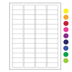 "Cryo laser labels - 1.77"" x 0.79""  #RCL-8 (colors available)"