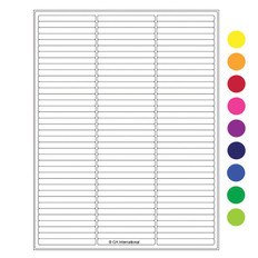 "Cryo laser labels - 2.64"" x 0.277"" #RCL-11 (colors available)"