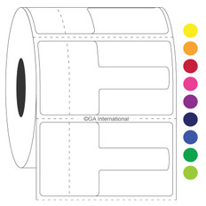"Optical frame direct thermal labels - 2.24"" x 1.25"" #DTOL-2"