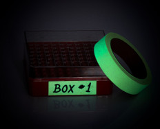 Glow in the dark tape. Laboratory use