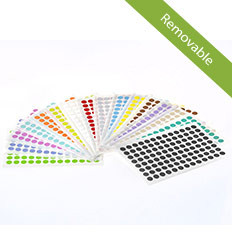 "Color dots paper labels 0.354"" / 9mm removable 520/pk SSLRP-9"
