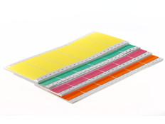"Dot matrix pin fed paper labels permanent 4"" x 1.94"" / 102mm x 49.21mm fanfold colors (1 across) 2,500/pk EDP-402"