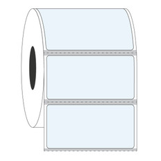 "Cryo & Autoclave-Resistant Clear Labels - 2"" x 1""  #GAN-28 Black Mark"