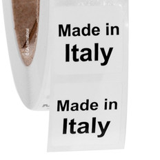 "Made in Italy - Oil-proof country of origin labels - 1"" x 1"" #ABA-1020"