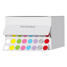 """Cryogenic multi-color dots 0.35"""" / 9mm  #LTR-9X8A"""