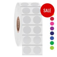 """Deep-freeze barcode labels - 0.5"""" circle  #CTT-53 Black Mark"""
