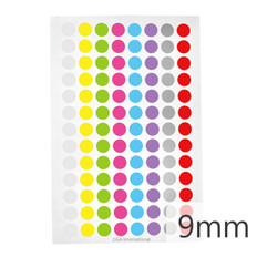 "Cryogenic Color Dots - 0.35"" / 9mm #LT-9X8A 8 Colors Across"
