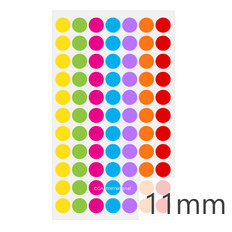 "Cryogenic Color Dots - 0.44"" / 11mm #LT-11X7A  7 Colors Across"