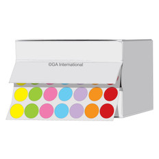 """Cryogenic multi-color dots 0.44"""" / 11mm #LTR-11X7A"""