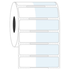 "Wrap-Around Labels for Frozen Vials - 1"" x 0.625"" + 1.375"" wrap  #FIX-312NOT"