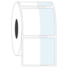 "Cryo Cover-Up Label for Frozen Vials - 0.875"" x 1.375"" + 0.75"" wrap  #AEA-2 Notch"