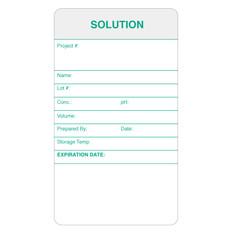 "Self-Laminating Calibration Labels - 3.5"" x 2"" - SOLUTION - #CALA-005-0.25R"