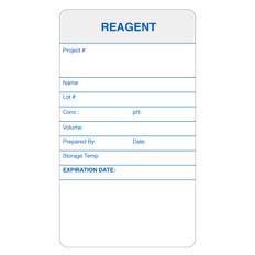 "Self-Laminating Calibration Labels - 3.5"" x 2"" - REAGENT - #CAL-004-0.25R"