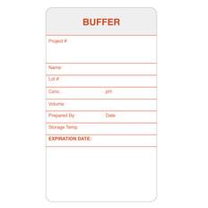 "Self-Laminating Calibration Labels - 3.5"" x 2"" - BUFFER - #CAL-003-0.25R"