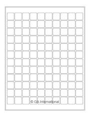 "Laser & Inkjet Matte Paper Labels - 0.75"" x 0.75""  #LZP-16"