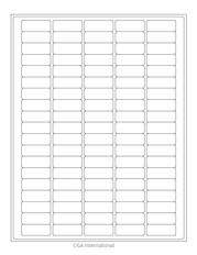 """Cryo Inkjet Labels - Sheet Format - 1.42"""" x 0.55"""" #AJA-6"""
