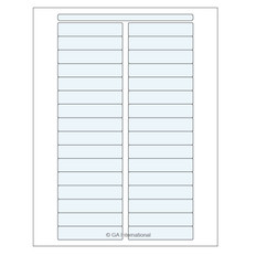 "Clear Cryo & Autoclave Laser Labels - 3"" x 0.625""  #DFLT-75"