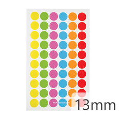 "Cryogenic Color Dots - 0.5"" / 13mm #JT-13X6A  6 Colors Across"