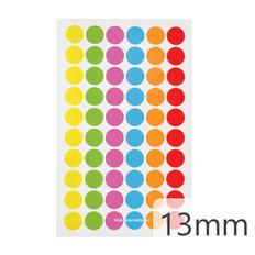"Cryogenic Color Dots - 0.5"" / 13mm #JTA-13X6A  6 Colors Across"