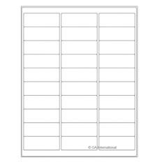 """Cryo Inkjet Labels - Sheet Format - 2.63"""" x 1"""" #AJA-3"""